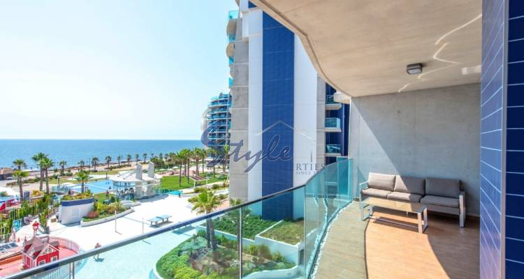Amazing apartment with panoramic sea views on the beachfront in Sea Senses, Punta Prima, Orihuela Costa, Costa Blanca, Spain