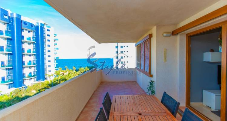 Sea view apartments for sale with pool and garage in a closed urbanization Parque Recoleta, Punta Prima, Orihuela Costa, Costa Blanca, Spain