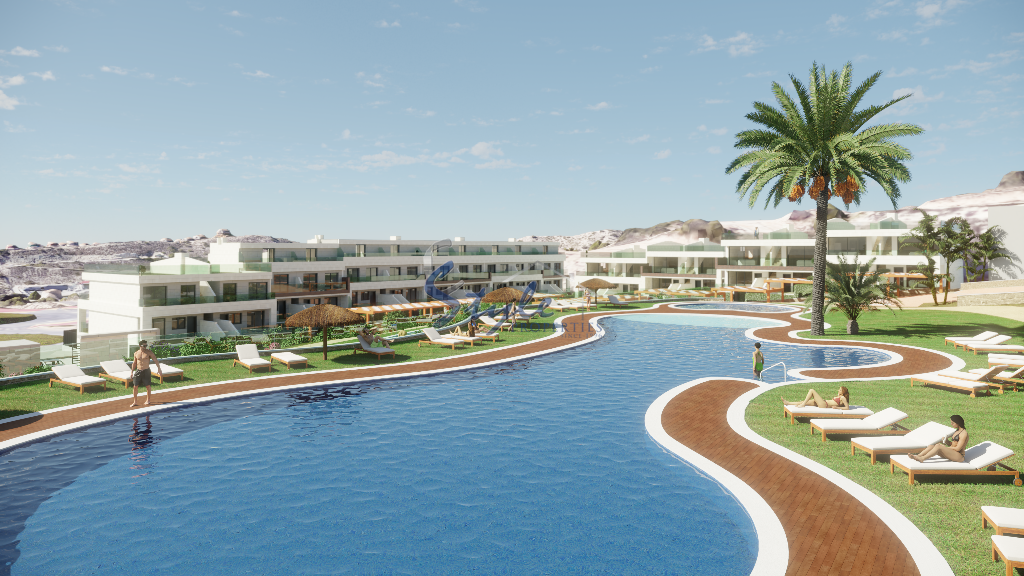 For New Build Apartments With Swimming Pools And Paddle In Benidorm Alicante Costa Blanca Spaine