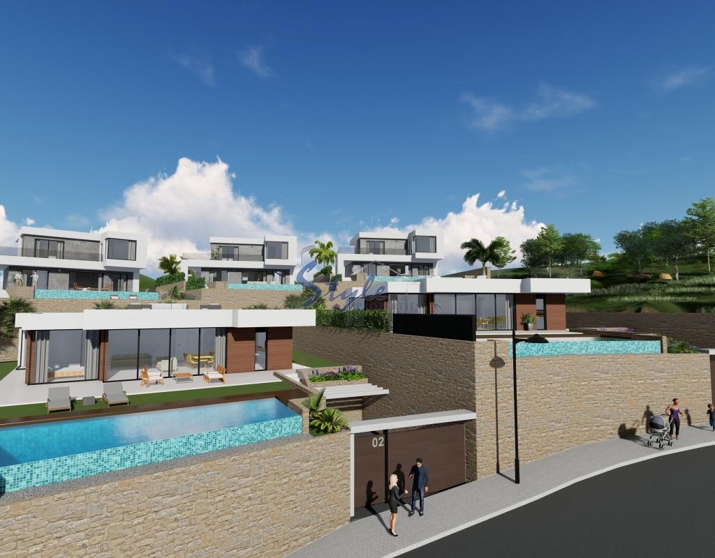 En venta villas de obra nueva con piscina y vistas al mar for Villas en calpe con piscina