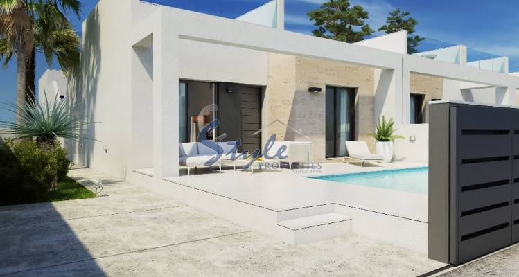 New build bungalow with private pool in Alicante, Costa Blanca, Spain